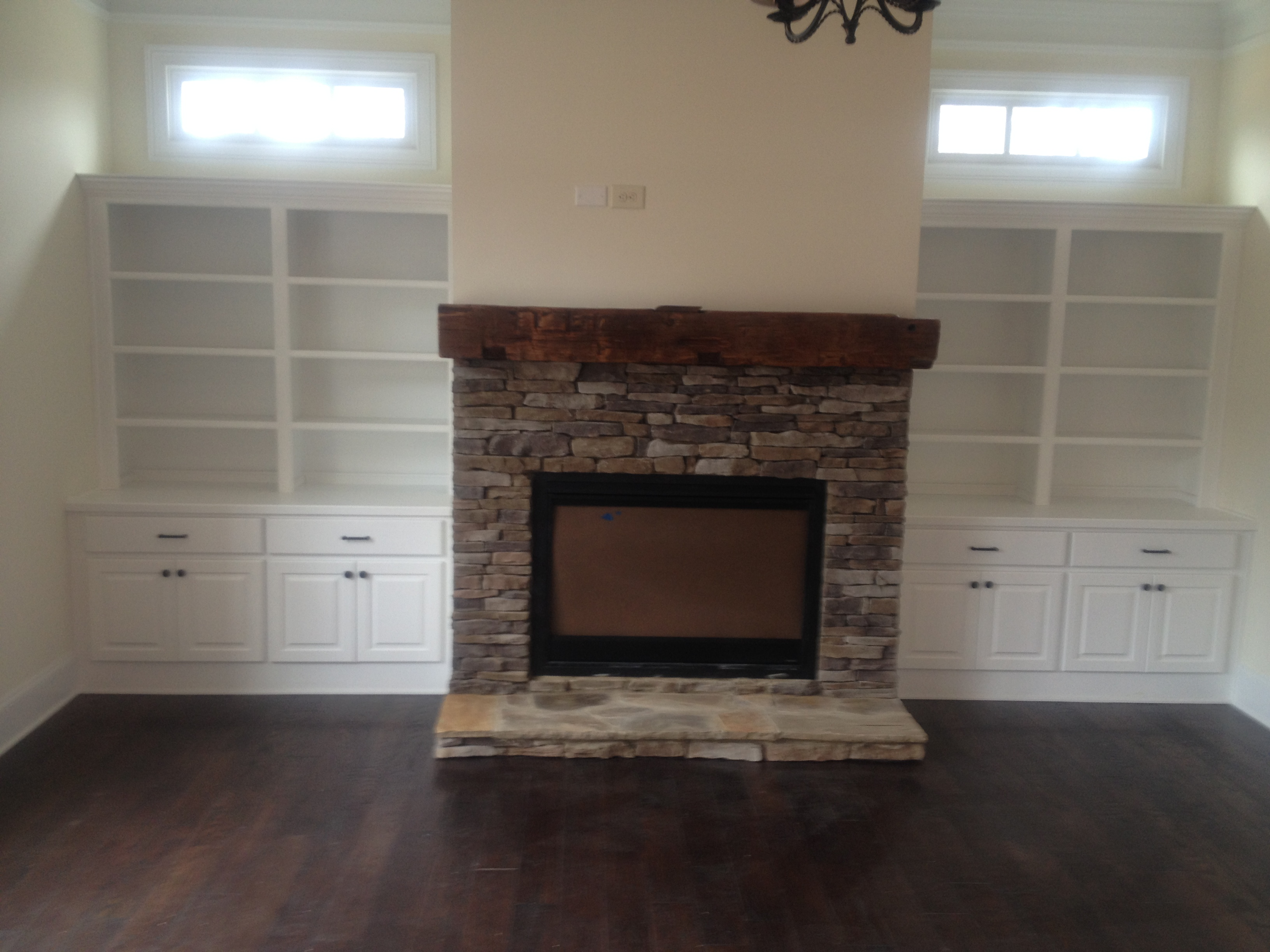 Bookcase and Mantle in Brookhaven, GA