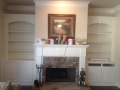 Bookcase and Mantle in Jefferson, GA