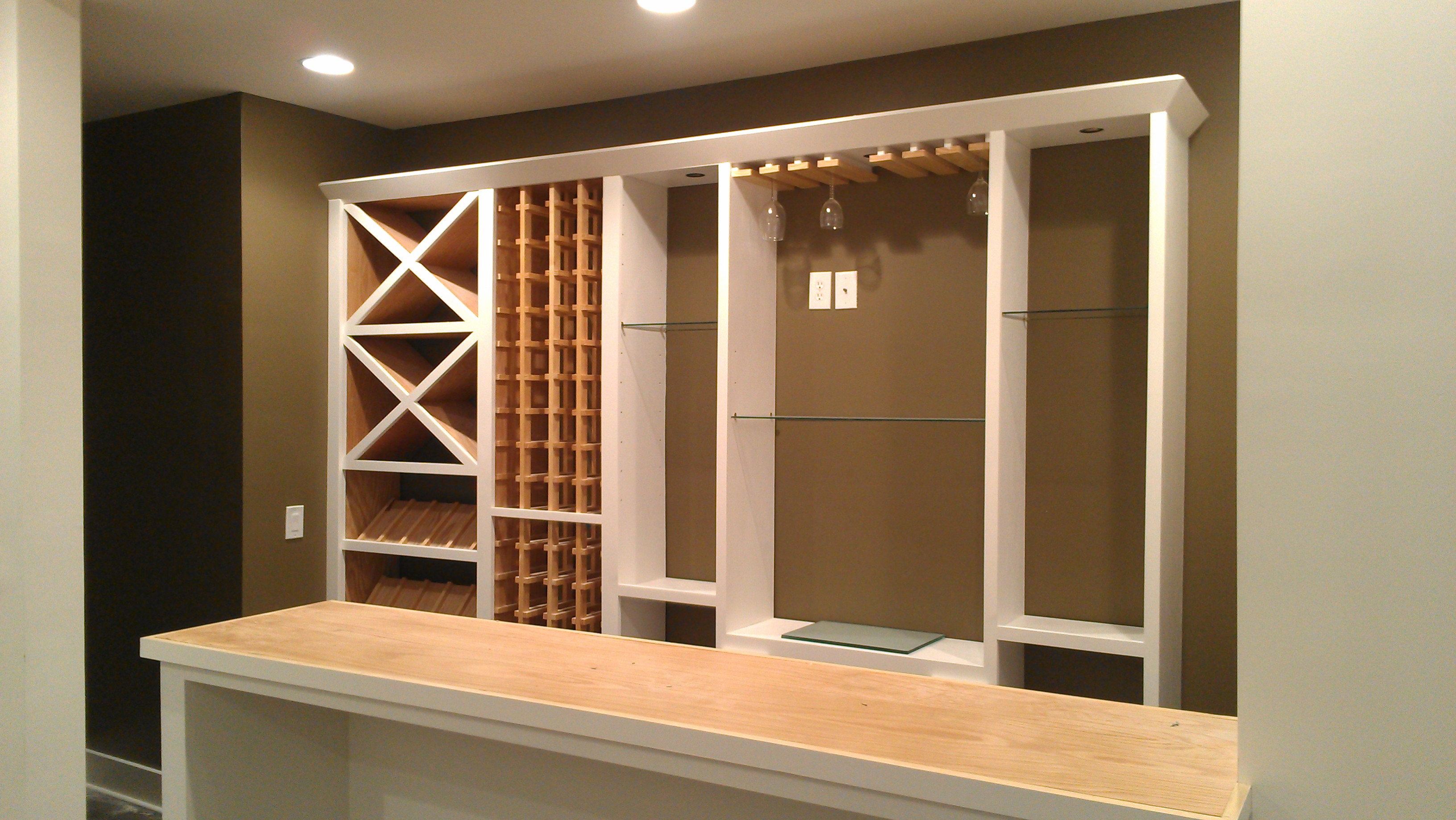 Wine rack cabinetry in Lawrenceville, GA